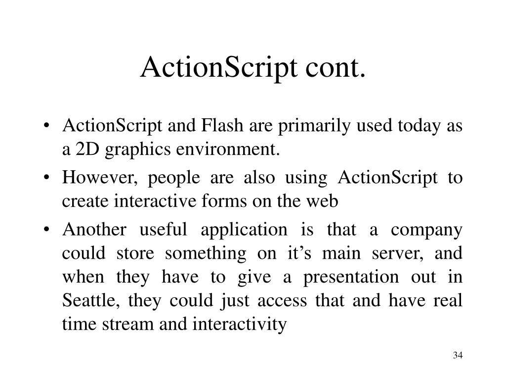 ActionScript cont.