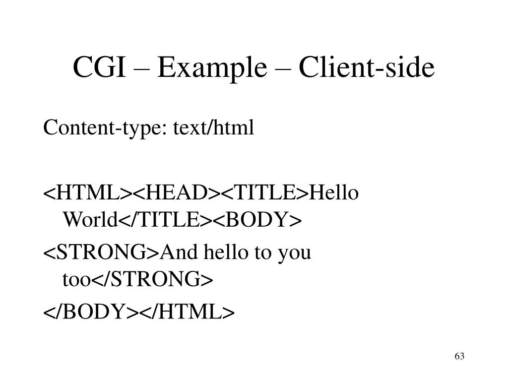 CGI – Example – Client-side