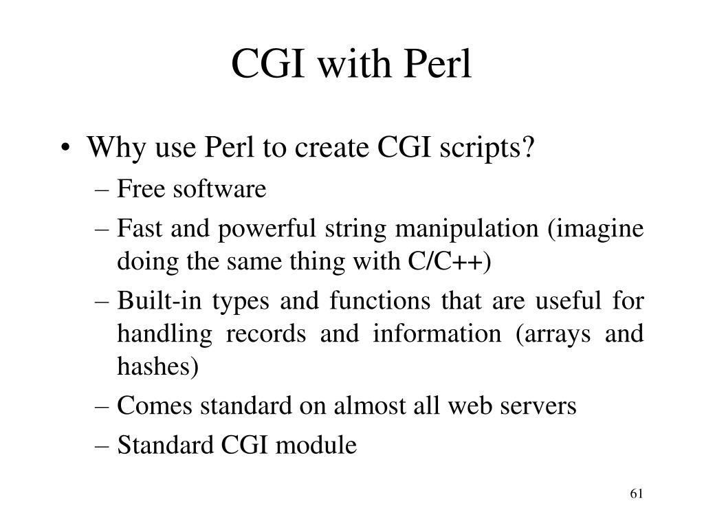 CGI with Perl