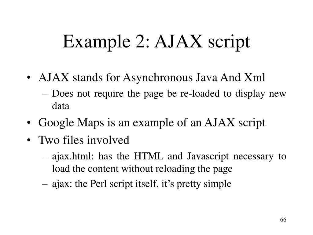 Example 2: AJAX script