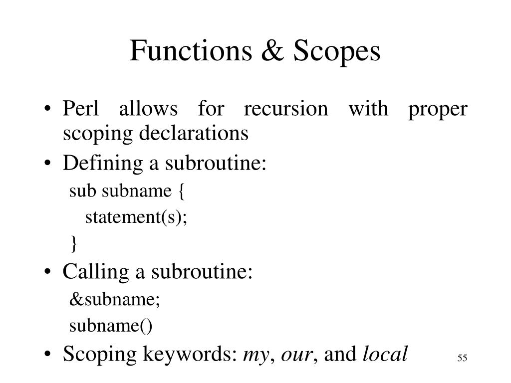 Functions & Scopes