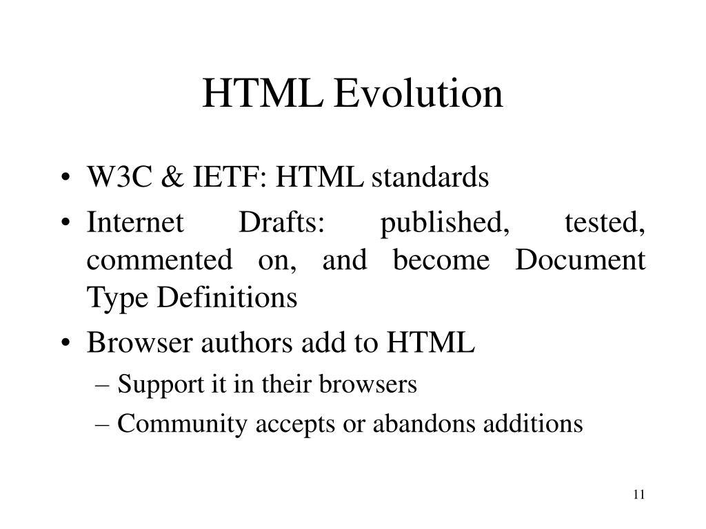 HTML Evolution
