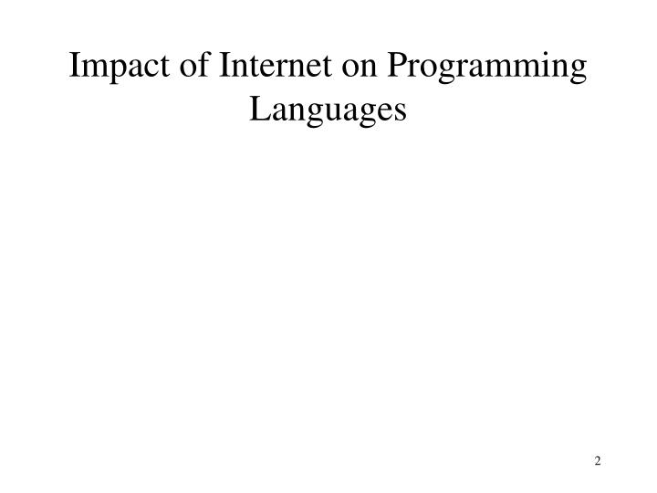 Impact of internet on programming languages