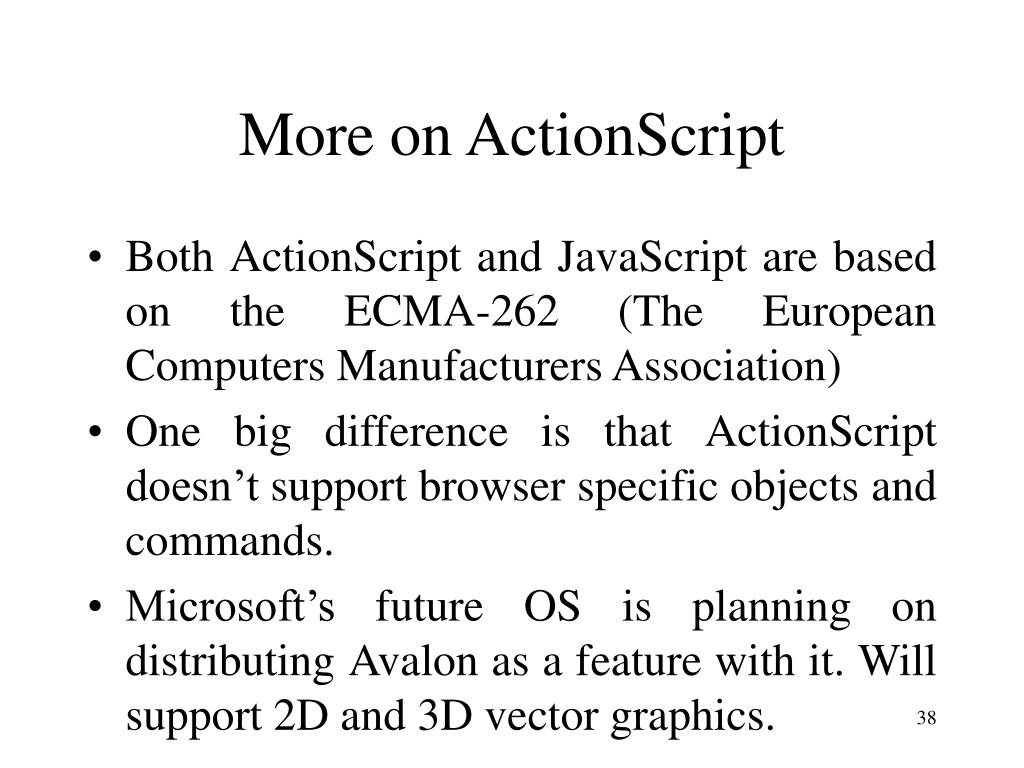 More on ActionScript
