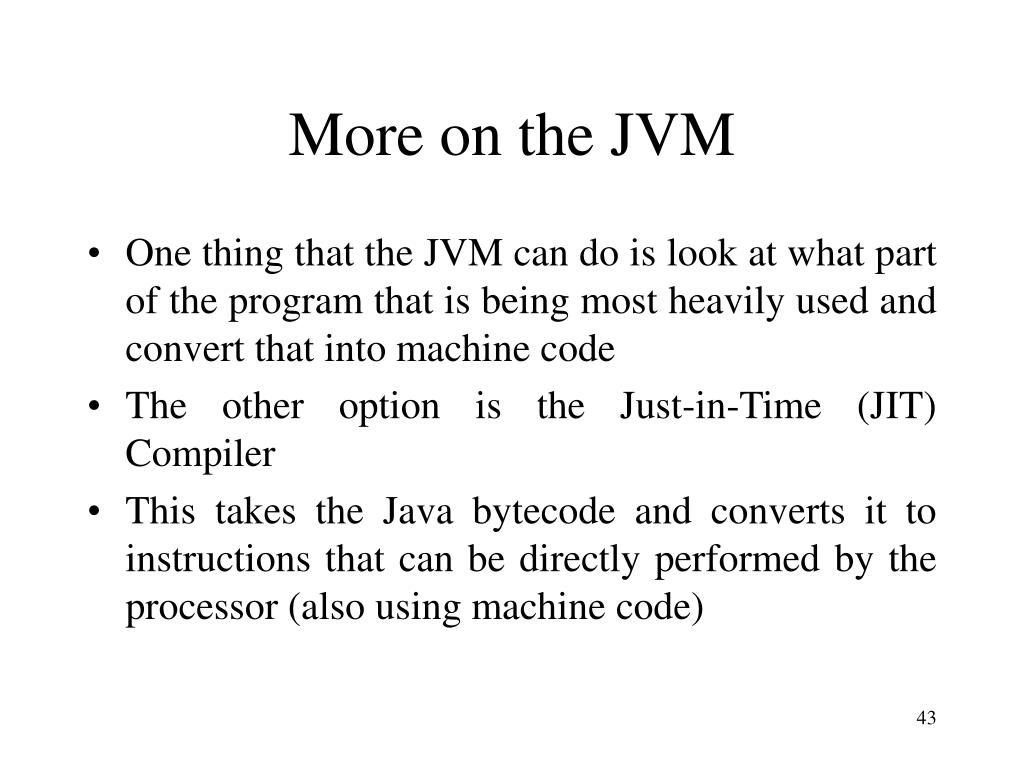 More on the JVM