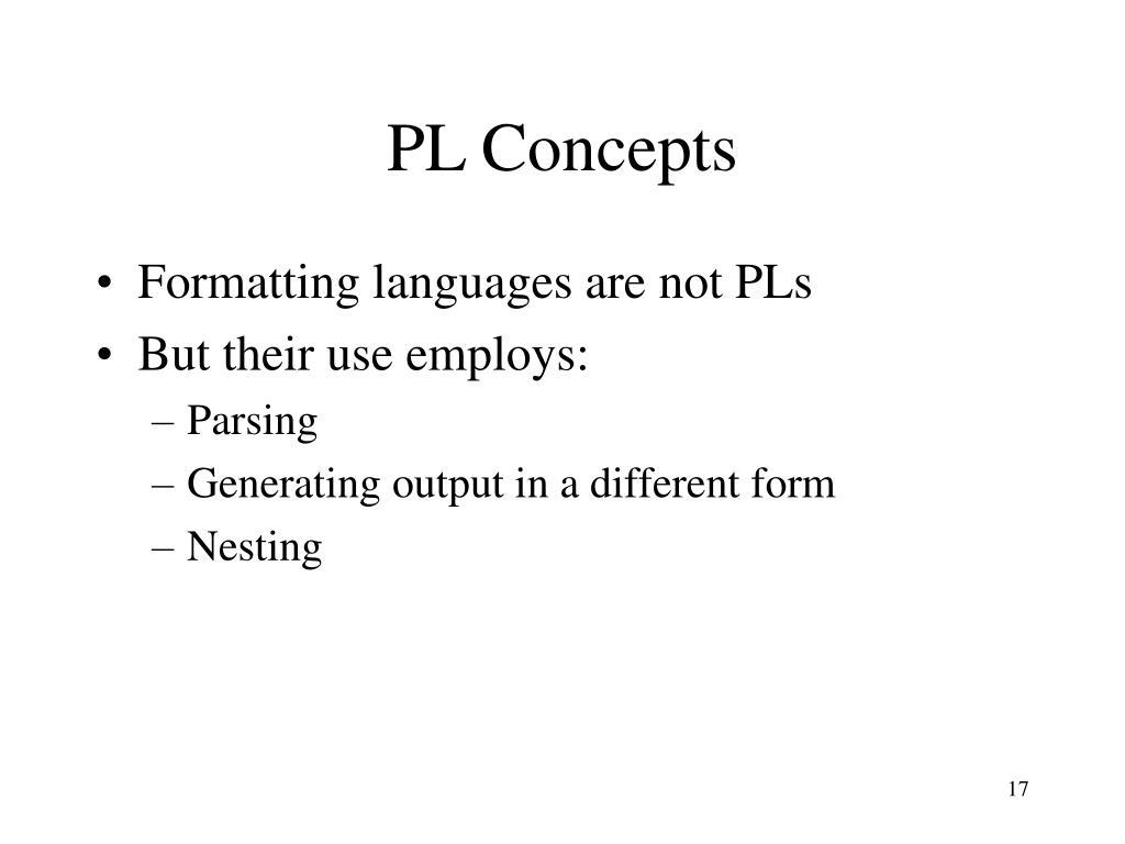 PL Concepts