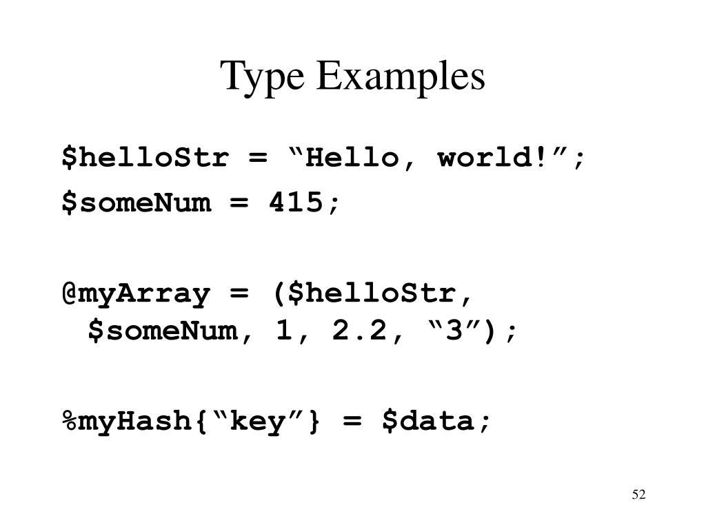Type Examples