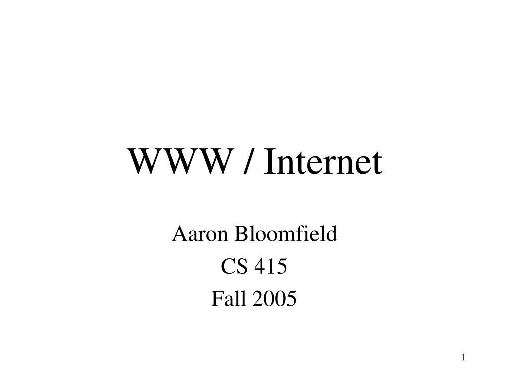 WWW / Internet