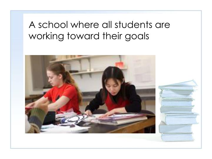 A school where all students are working toward their goals