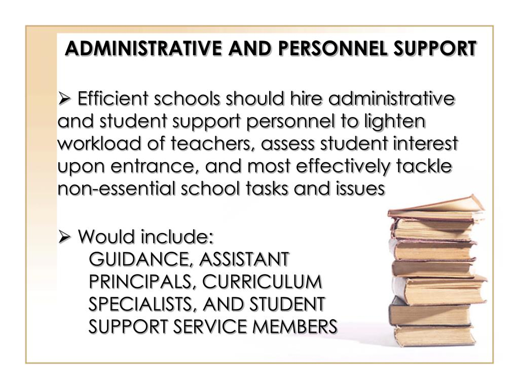 ADMINISTRATIVE AND PERSONNEL SUPPORT