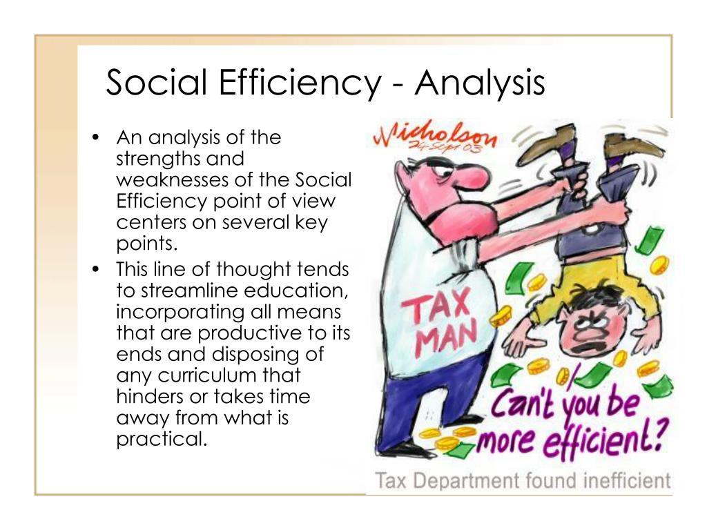 Social Efficiency - Analysis