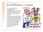 social efficiency analysis