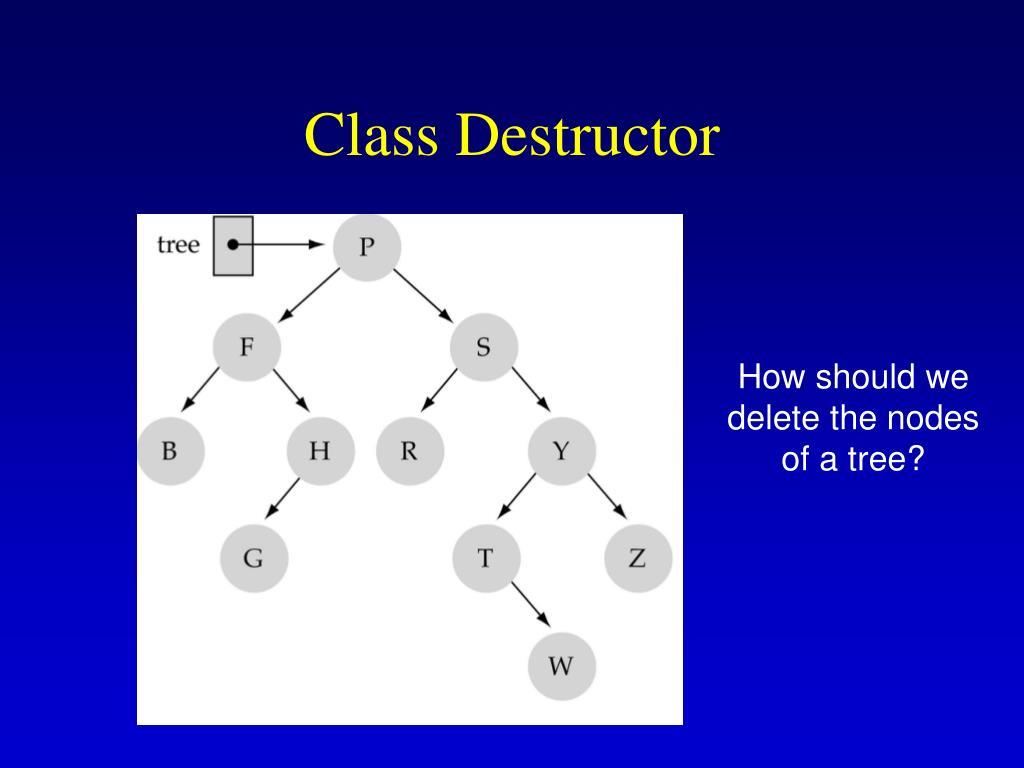 Class Destructor