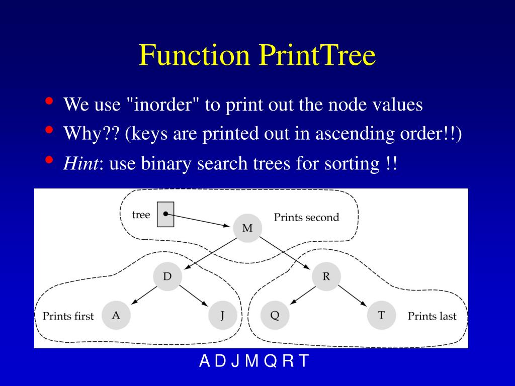 Function PrintTree