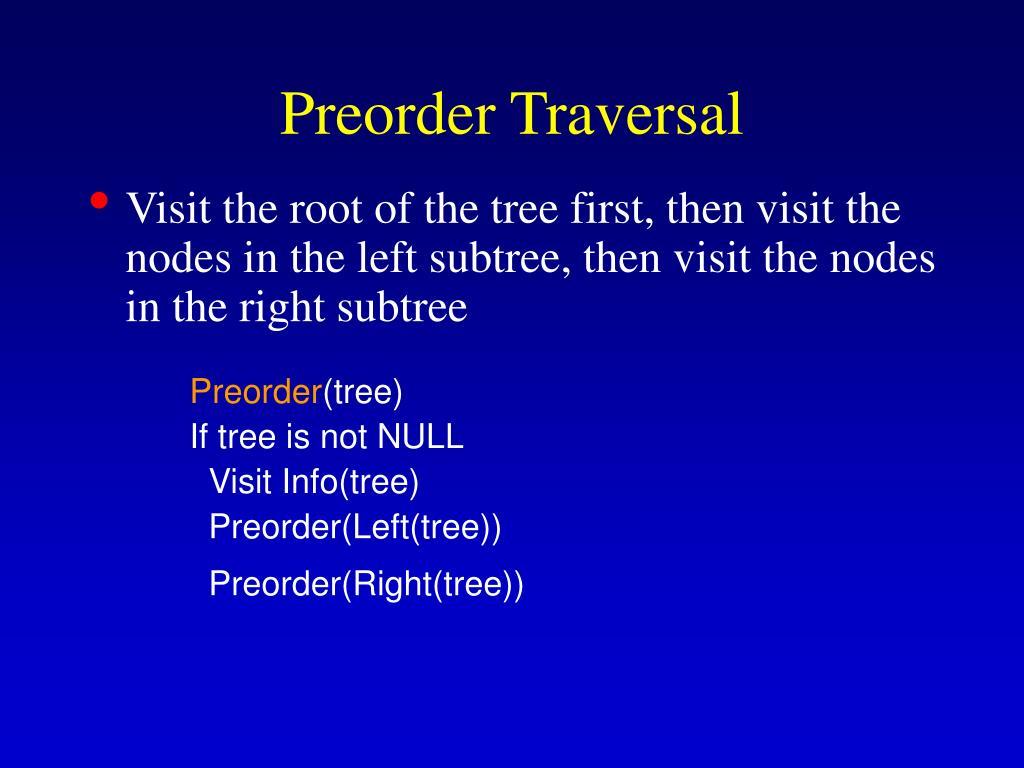 Preorder Traversal