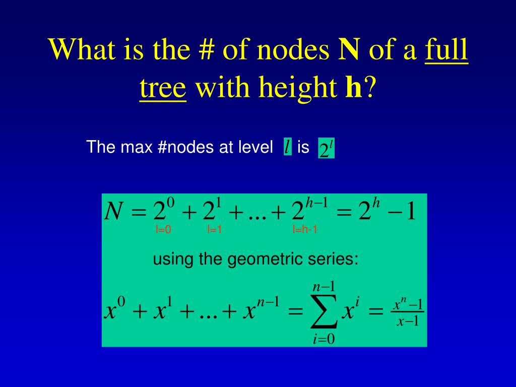 What is the # of nodes