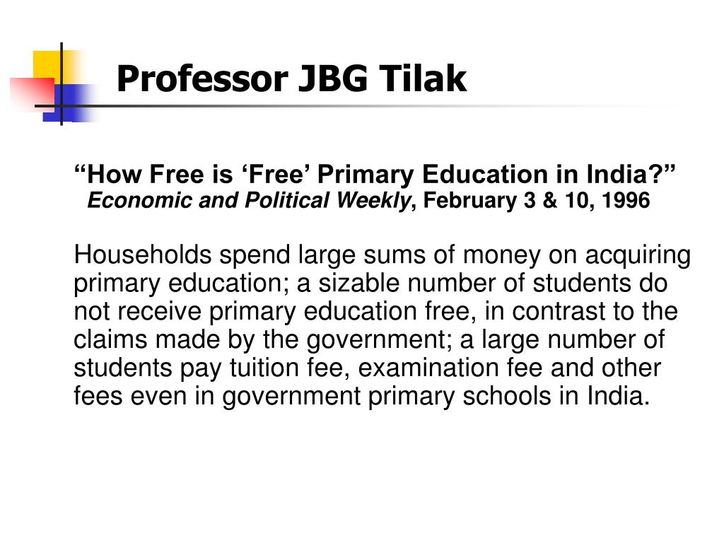 """How Free is 'Free' Primary Education in India?"""