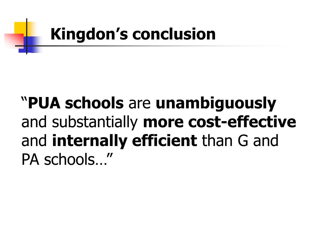 Kingdon's conclusion