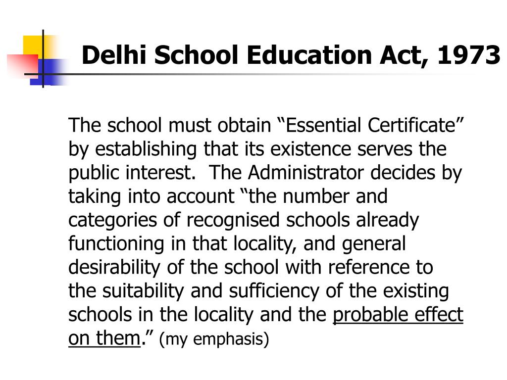 Delhi School Education Act, 1973