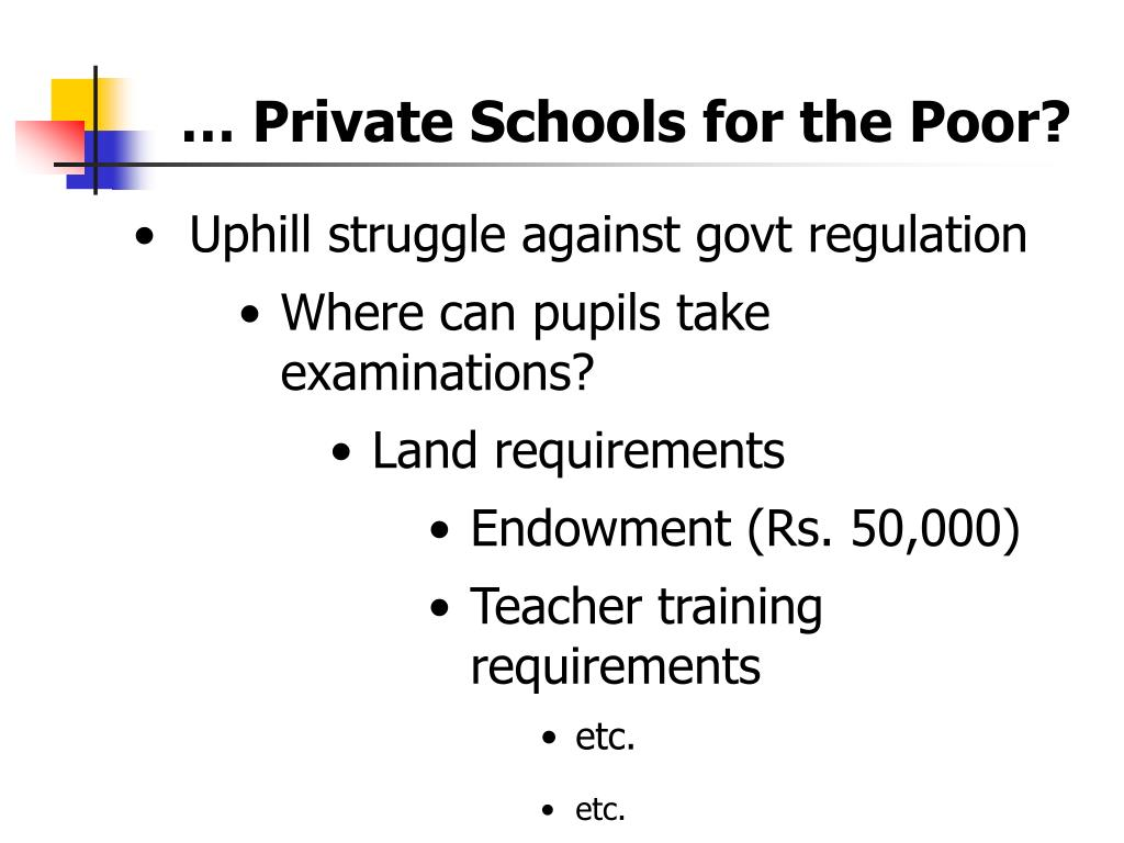 … Private Schools for the Poor?