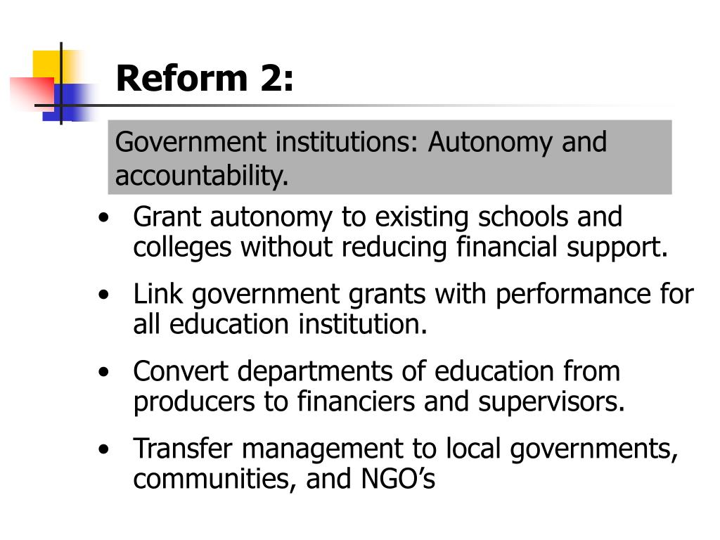 Reform 2: