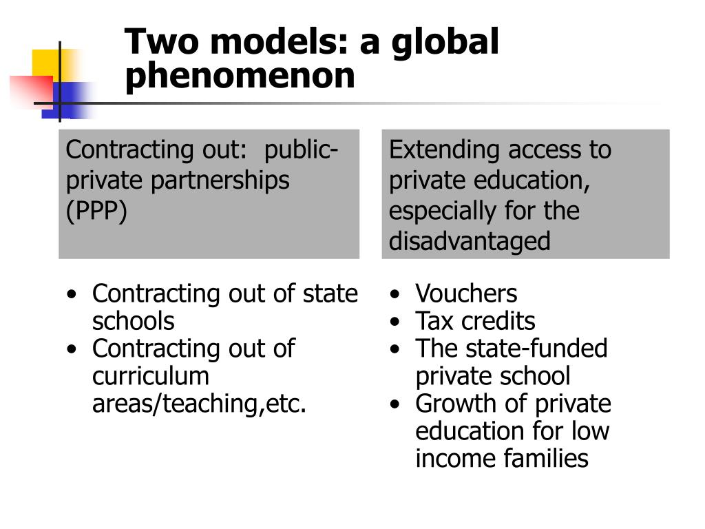 Two models: a global phenomenon