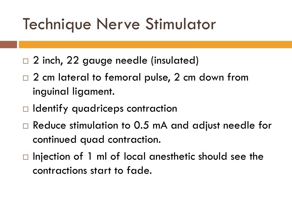 Technique Nerve Stimulator