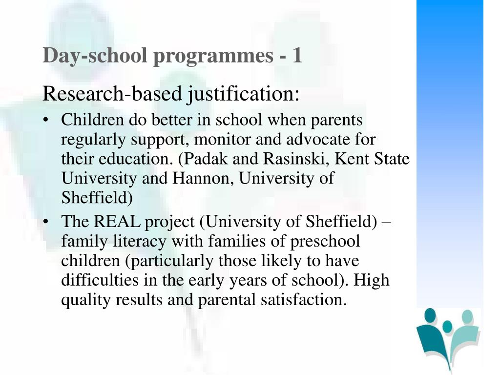 Day-school programmes - 1