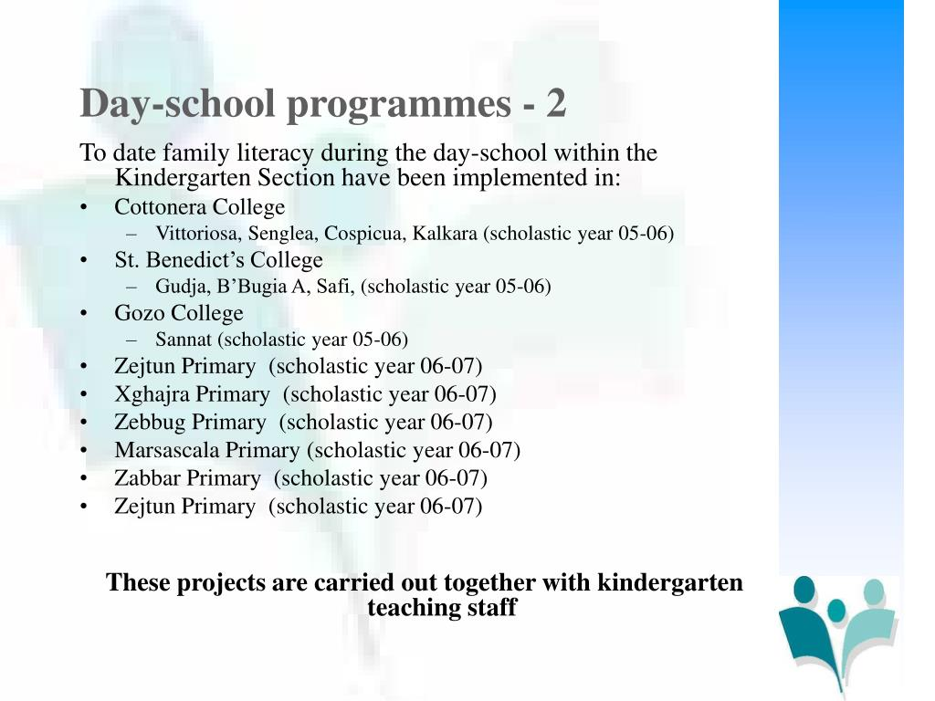Day-school programmes - 2