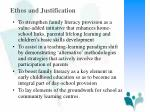 ethos and justification