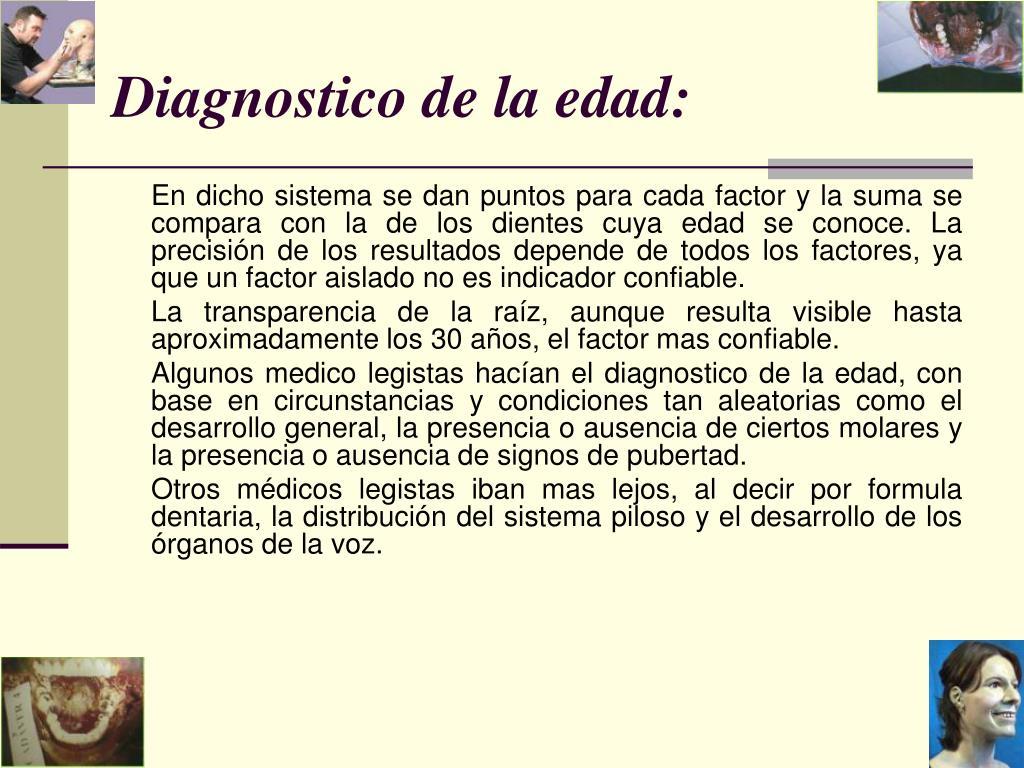 Diagnostico de la edad: