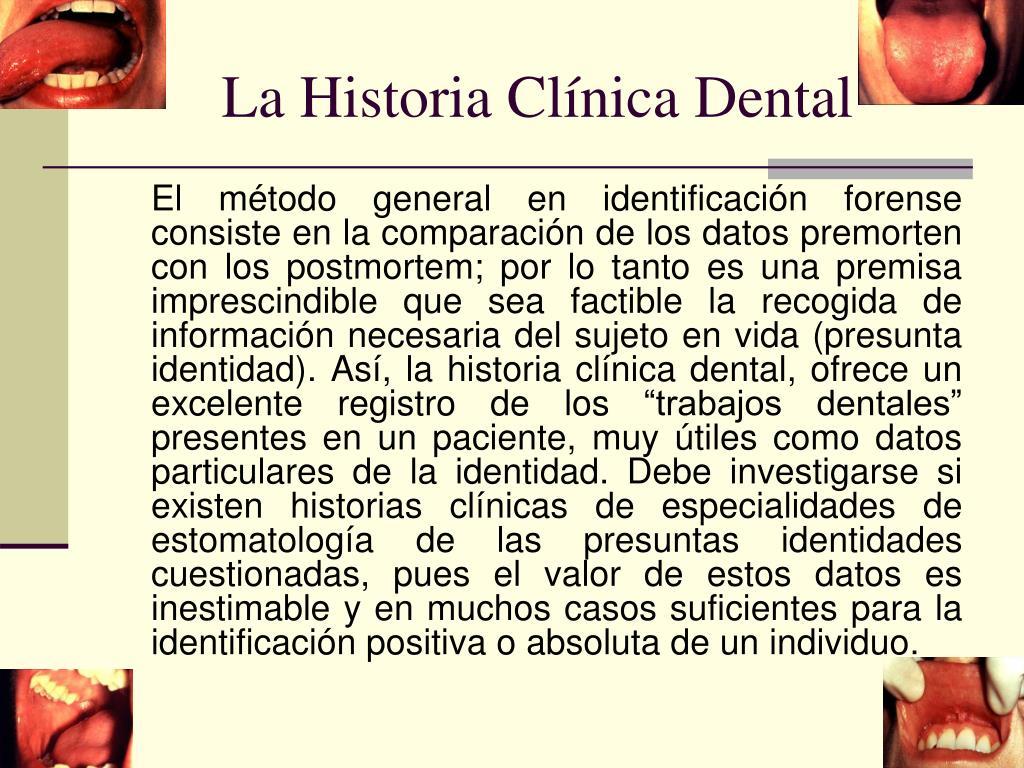 La Historia Clínica Dental