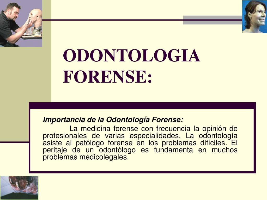 ODONTOLOGIA FORENSE: