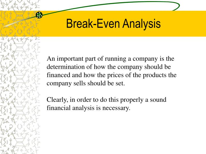 Break even analysis3