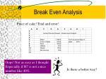 break even analysis9