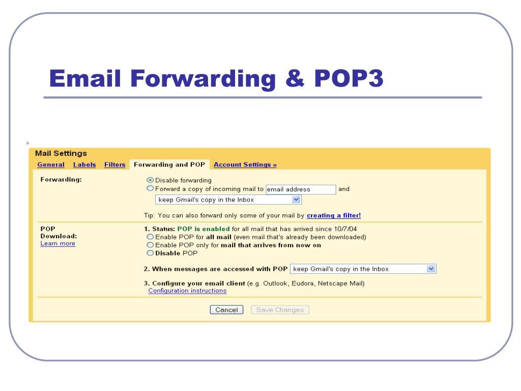 Email Forwarding & POP3