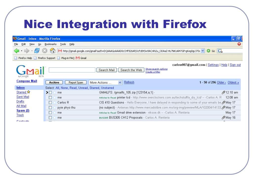 Nice Integration with Firefox