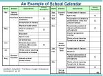 an example of school calendar