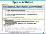 special activities