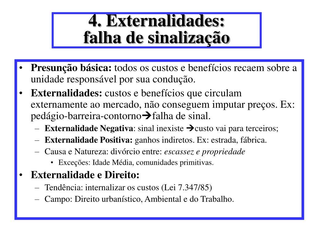 4. Externalidades: