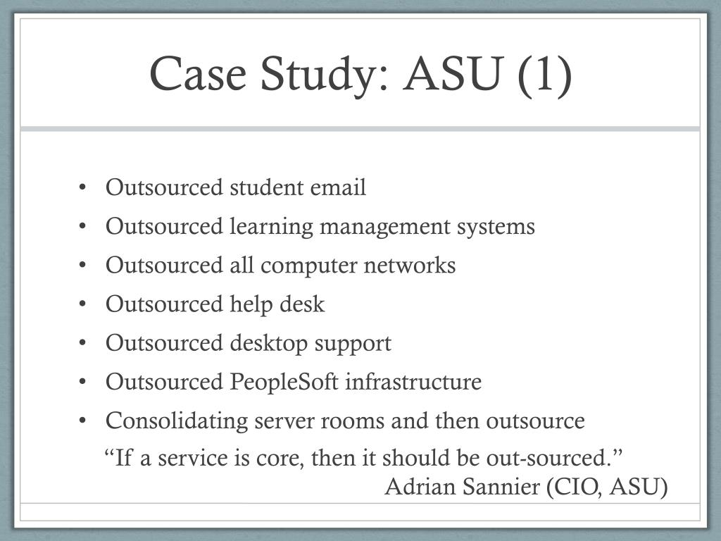 Case Study: ASU (1)