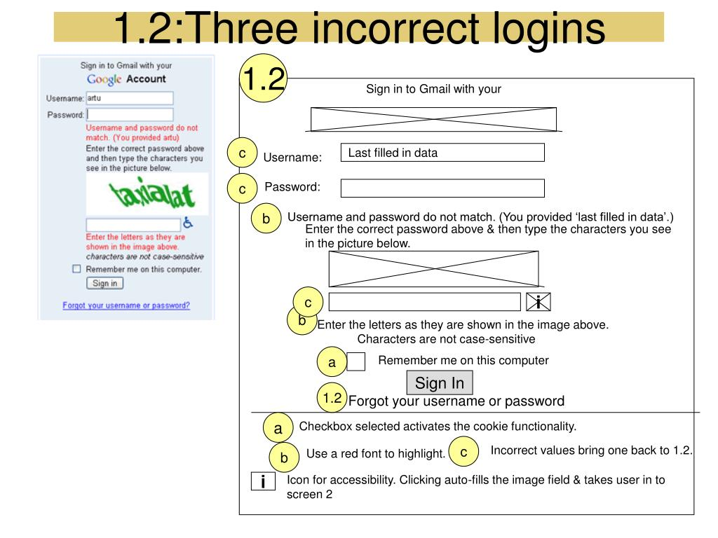 1.2:Three incorrect logins