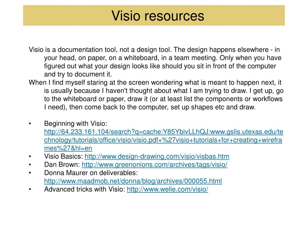 Visio resources