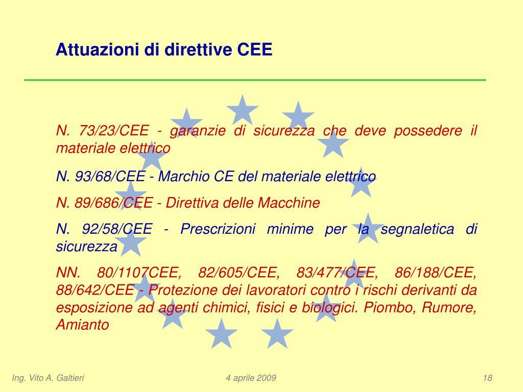 Attuazioni di direttive CEE