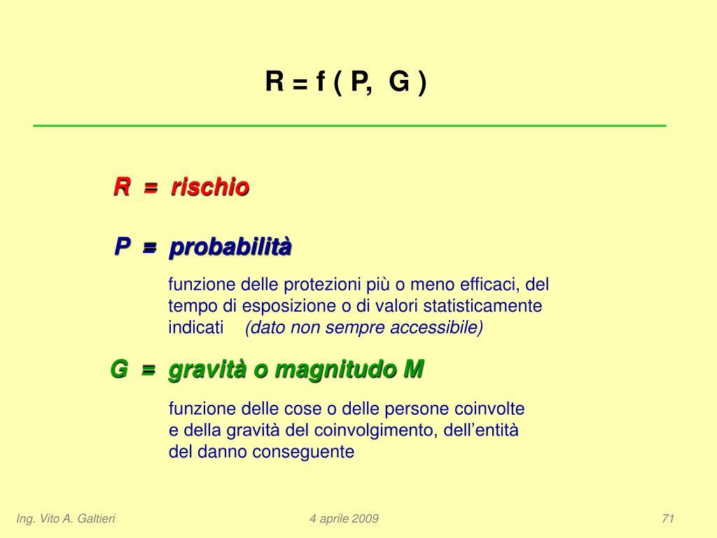 R = f ( P,  G )