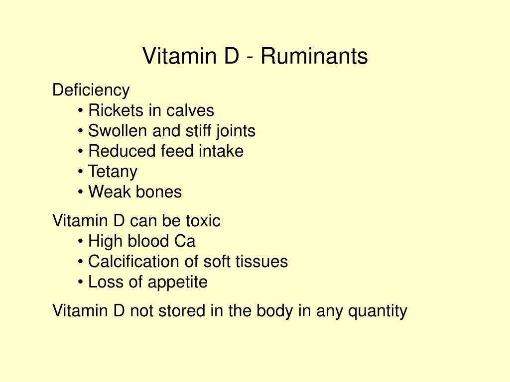 Vitamin D - Ruminants