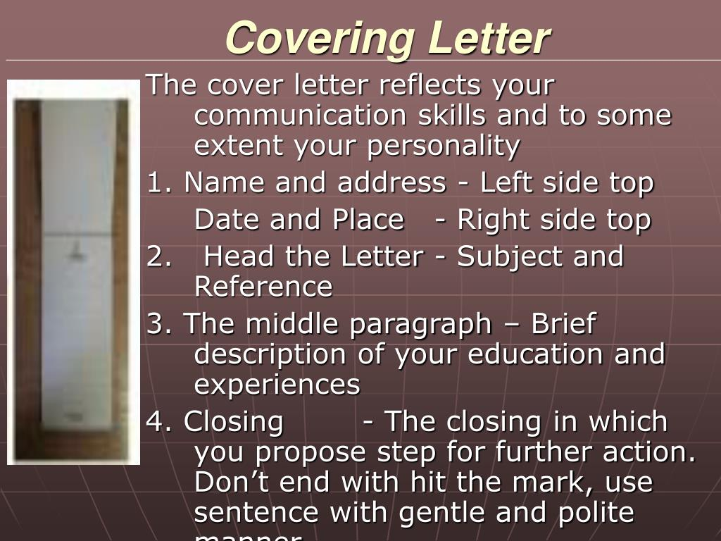 Covering Letter