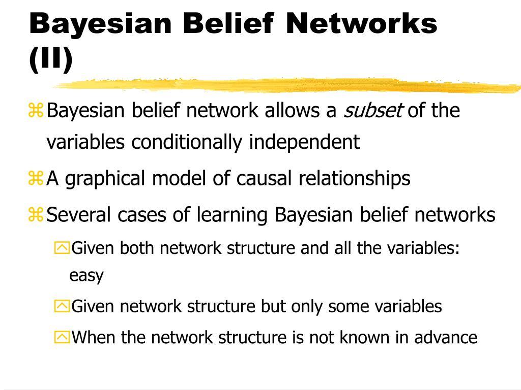 Bayesian Belief Networks (II)