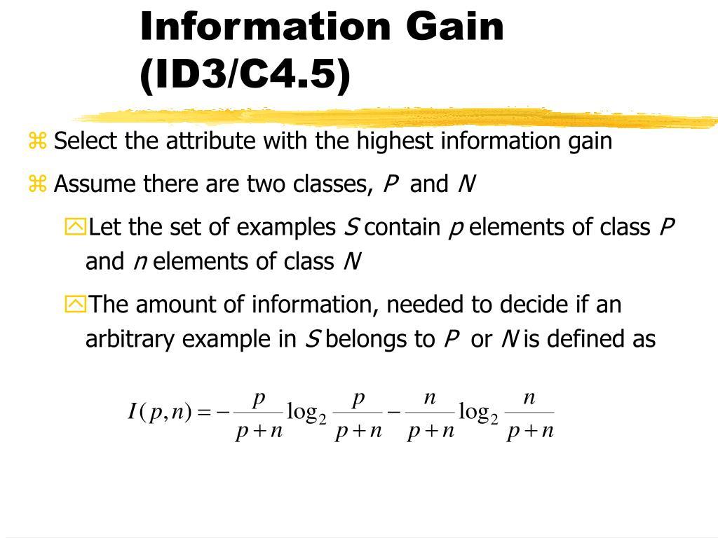 Information Gain (ID3/C4.5)