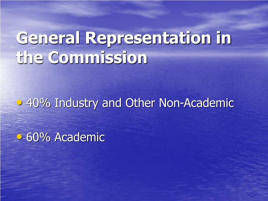 General Representation in the Commission